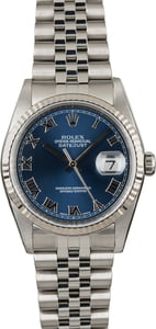 PreOwned Rolex Datejust 16234 Blue Dial