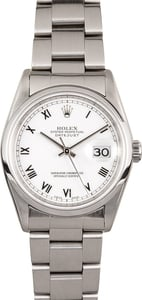 TT Pre-Owned Men's Rolex Datejust Stainless Steel Watch 16200 T