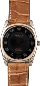 Rolex Cellini 4233 White Gold with Everose Bezel
