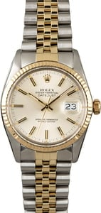 PreOwned Rolex Datejust 16013 Silver Index Dial