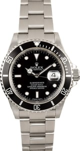 Pre-Owned Submariner Rolex 16610T Serial Engraved