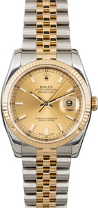 Certified Rolex Datejust 116233 Champagne Dial