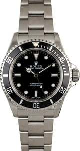 Certified Pre-Owned Rolex Submariner 14060 No Date