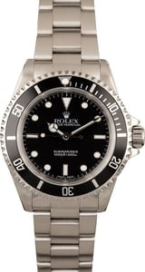 PreOwned Rolex Submariner 14060 Black Luminous Dial