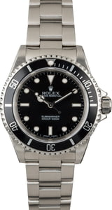 Certified Rolex Submariner 14060 No Date