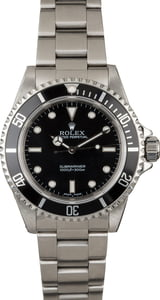 Certified Rolex Submariner 14060 No Date Model