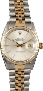 Rolex Datejust 16013 Silver Dial Men's Watch