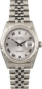 PreOwned Rolex Datejust 16234 Rhodium Dial