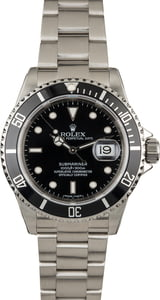 PreOwned Rolex Submariner Ref 16610 Black