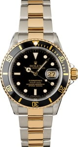 Pre-Owned Rolex Submariner 16613 Black Luminous Dial