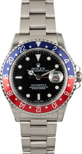PreOwned Rolex GMT Master 16710 'Pepsi' Insert