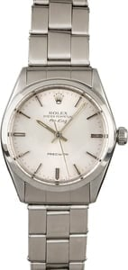 Used Rolex Air-King 5500 Steel Oyster Rivet