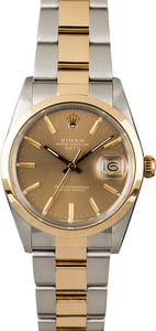 PreOwned Rolex Date 15003 Champagne Dial
