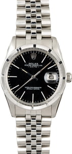 Pre-Owned Rolex Date 15010 Black Dial