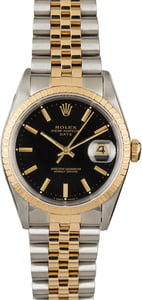 PreOwned Rolex Date 15223 Black Dial