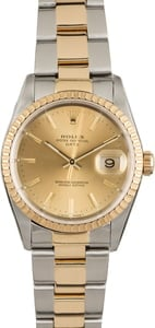 Rolex Oyster Perpetual Date 15223 Champagne Dial