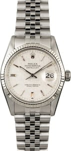 Rolex Datejust 16014 Silver Linen Index Dial
