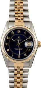 PreOwned Rolex Datejust 16013 Blue Arabic Dial