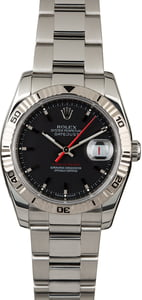 PreOwned Rolex Datejust Turn-O-Graph 116264 Black Dial