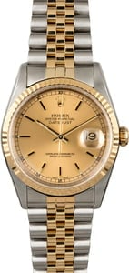 Certified PreOwned Rolex Datejust 16233 Champagne