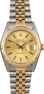 Rolex Datejust 16233 Champagne Dial with Two Tone Jubilee