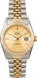 PreOwned Rolex Datejust 16233 Champagne Tapestry Dial
