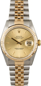 Men's Rolex Datejust 16233 Champagne Index Dial