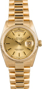 Rolex Day-Date 18038 Yellow Gold