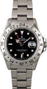 Men's Rolex Explorer 16570 Black Dial with Steel Oyster
