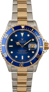 Used Rolex Two Tone Submariner 16613 Divers Bezel