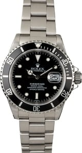 PreOwned Rolex Submariner 16610 Steel 40MM Case