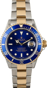 Rolex Submariner 16613 Oyster Bracelet with Gold Thru Clasp
