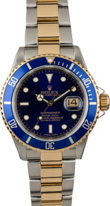 Rolex Submariner 16613 Serial Engraved Two Tone Watch