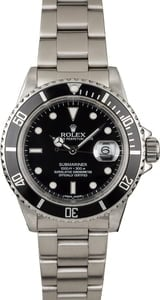 Used Rolex Submariner 16610 Steel 40MM Case