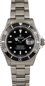 PreOwned Rolex Submariner Ref 16610 Black Ceramic Bezel