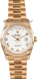 Pre-Owned Rolex President Gold Day-Date 118238 Mens