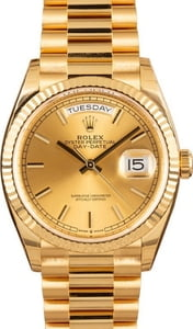 Rolex Day-Date 18K Gold President