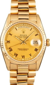 Used Rolex President Gold Day-Date 18238