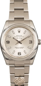 Used Rolex Oyster Perpetual 114200 Silver Arabic Dial