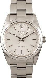 Men's Rolex Air-King 14000 Silver Dial