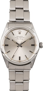 Pre Owned Rolex Air King Oyster 5500 Silver Dial