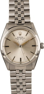 Pre-Owned 34MM Rolex Air King 5500 Silver Index Dial