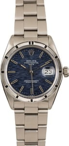 Pre-Owned Rolex Date 1501 Blue Textured Dial