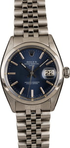 Pre-Owned Rolex Date 1500 Blue Dial Watch