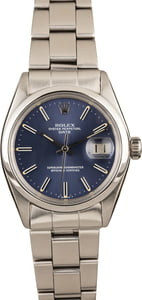 Rolex Oyster Perpetual Date 1500 Blue Dial Watch