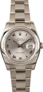 Pre-Owned Rolex Datejust 116200 Silver Roman Dial