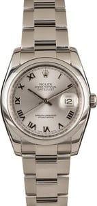 Pre-Owned Rolex Datejust 116200 Silver Roman