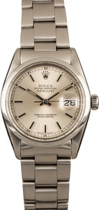 Used Rolex Datejust Stainless Steel 16000 Silver Dial