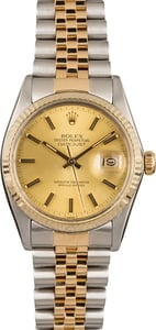 Pre Owned Rolex Two-Tone Datejust 16013