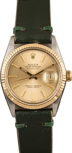 Pre-Owned Rolex Datejust 16013 Green Leather Strap